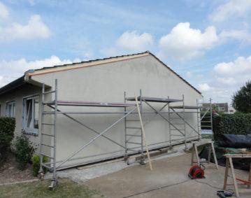 Isolation par l'extérieure d'un logement de la municipalité