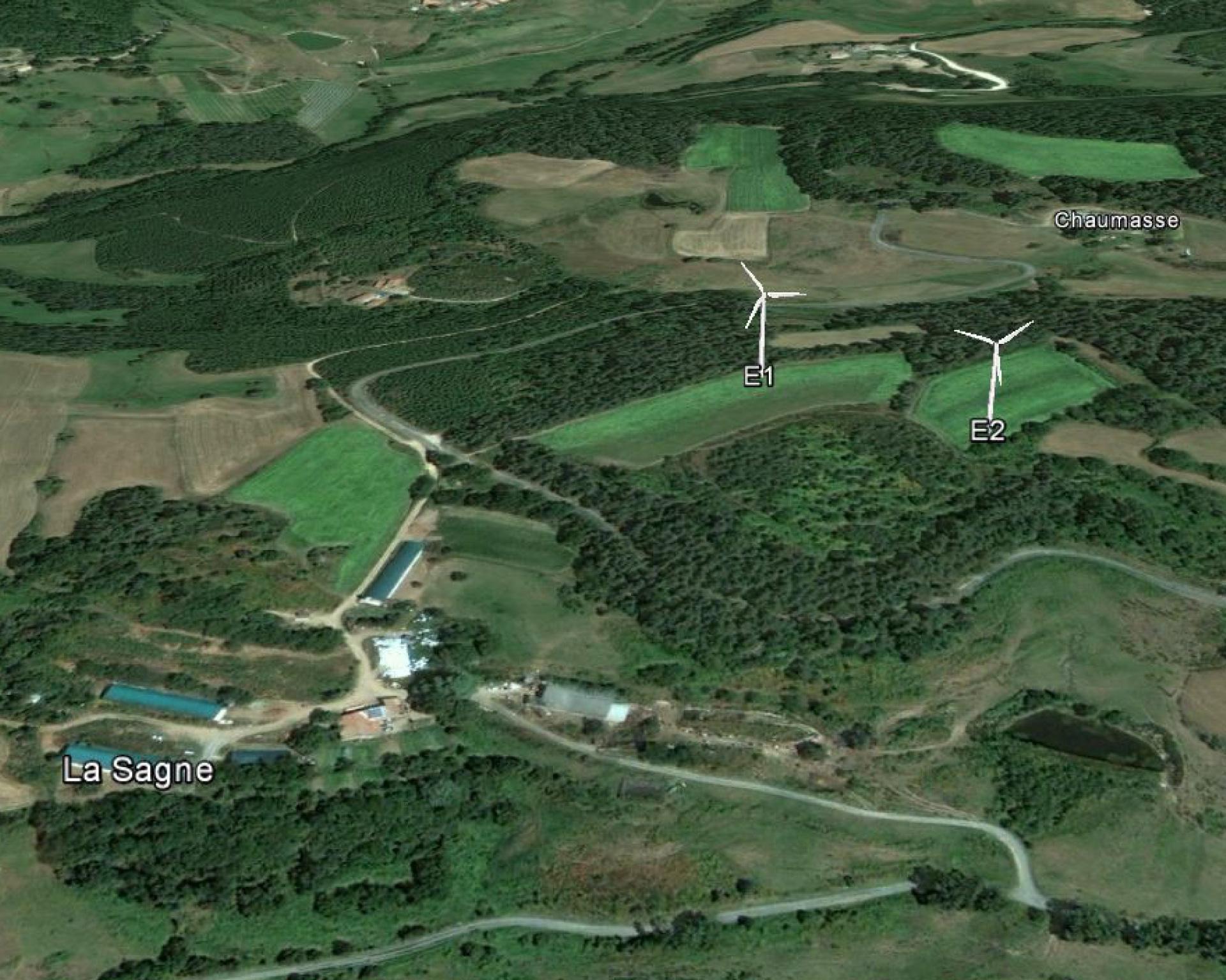 Visualisation 3D du projet éolien coopératif
