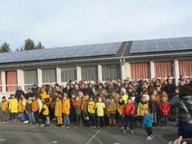 Inauguration solaire avec les enfants
